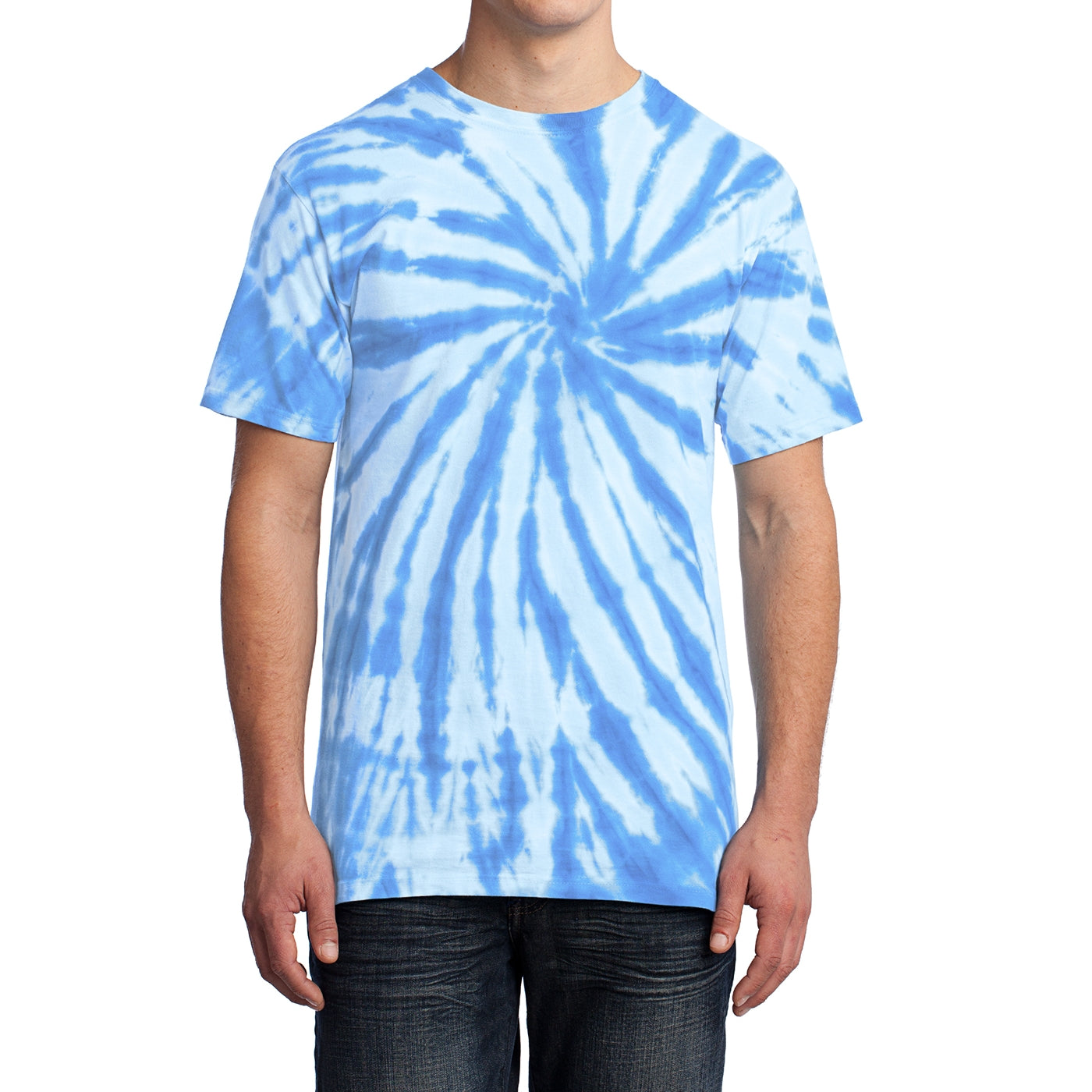 Men's Tie-Dye Tee - Light Blue - Front