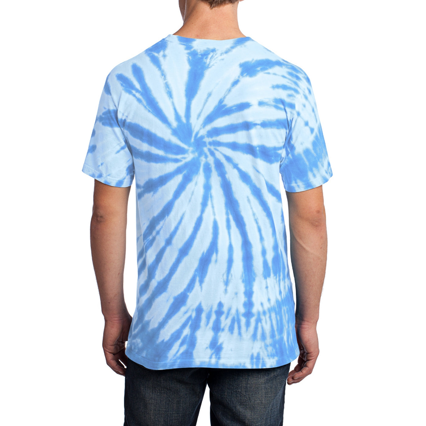 Men's Tie-Dye Tee - Light Blue - Back