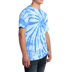 Men's Tie-Dye Tee - Light Blue - Side