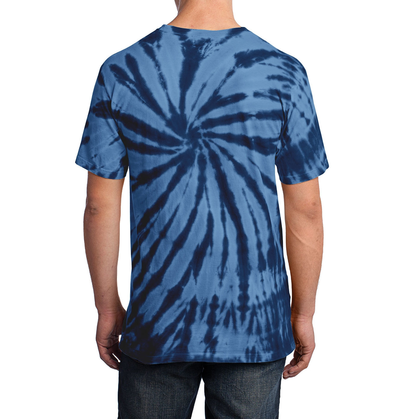 Men's Tie-Dye Tee - Navy - Back