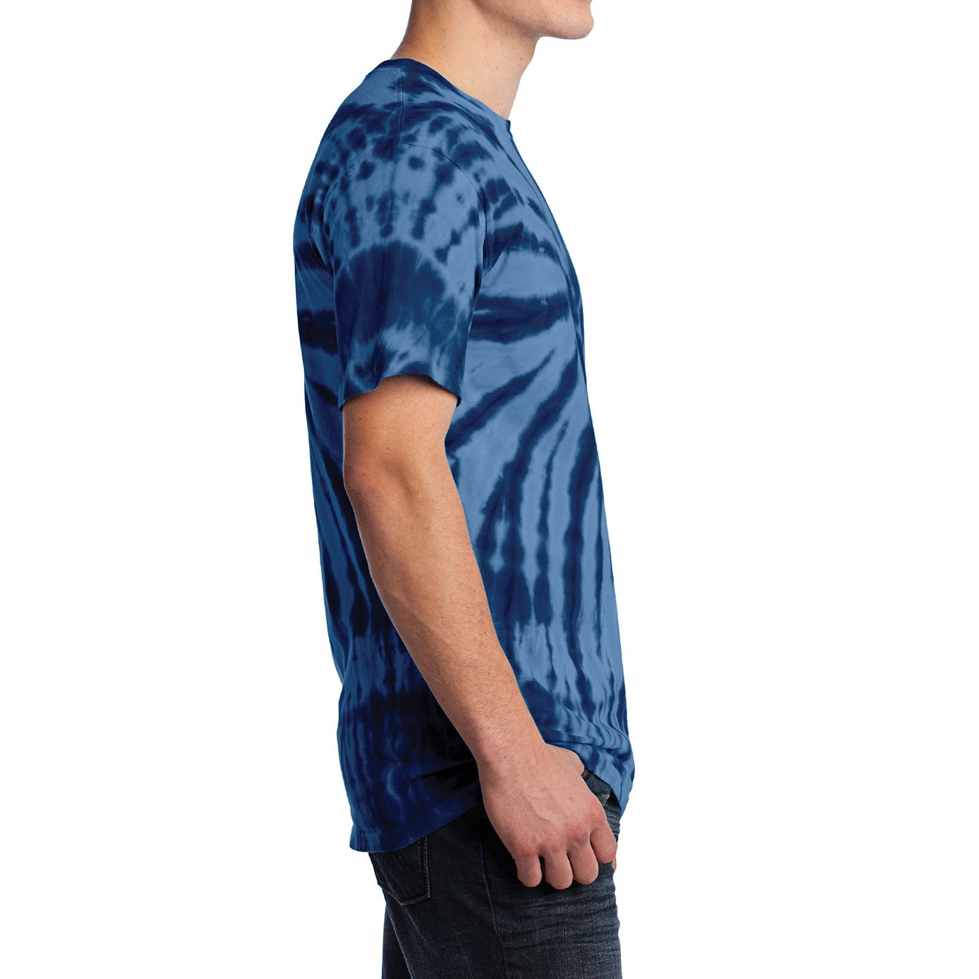 Men's Tie-Dye Tee - Navy - Side