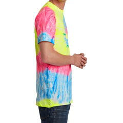 Men's Tie-Dye Tee - Neon Rainbow - Side