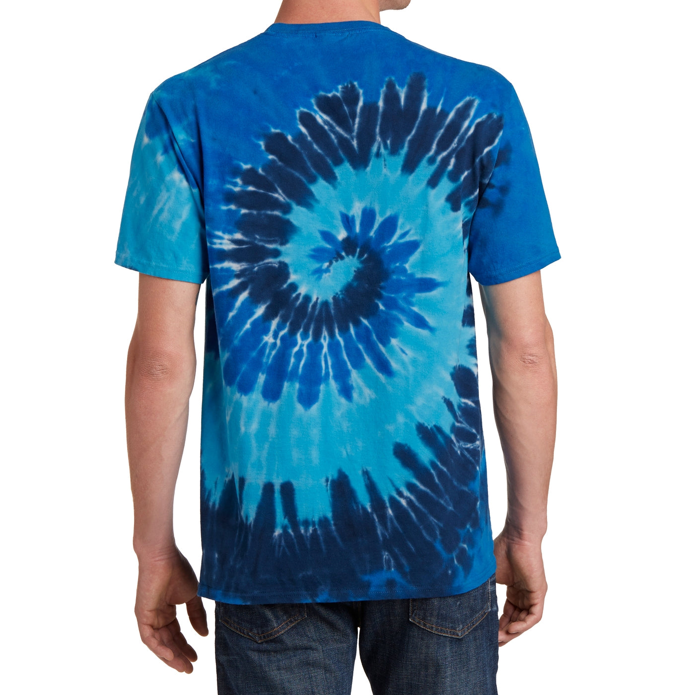 Men's Tie-Dye Tee - Ocean Rainbow - Back