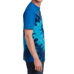 Men's Tie-Dye Tee - Ocean Rainbow - Side