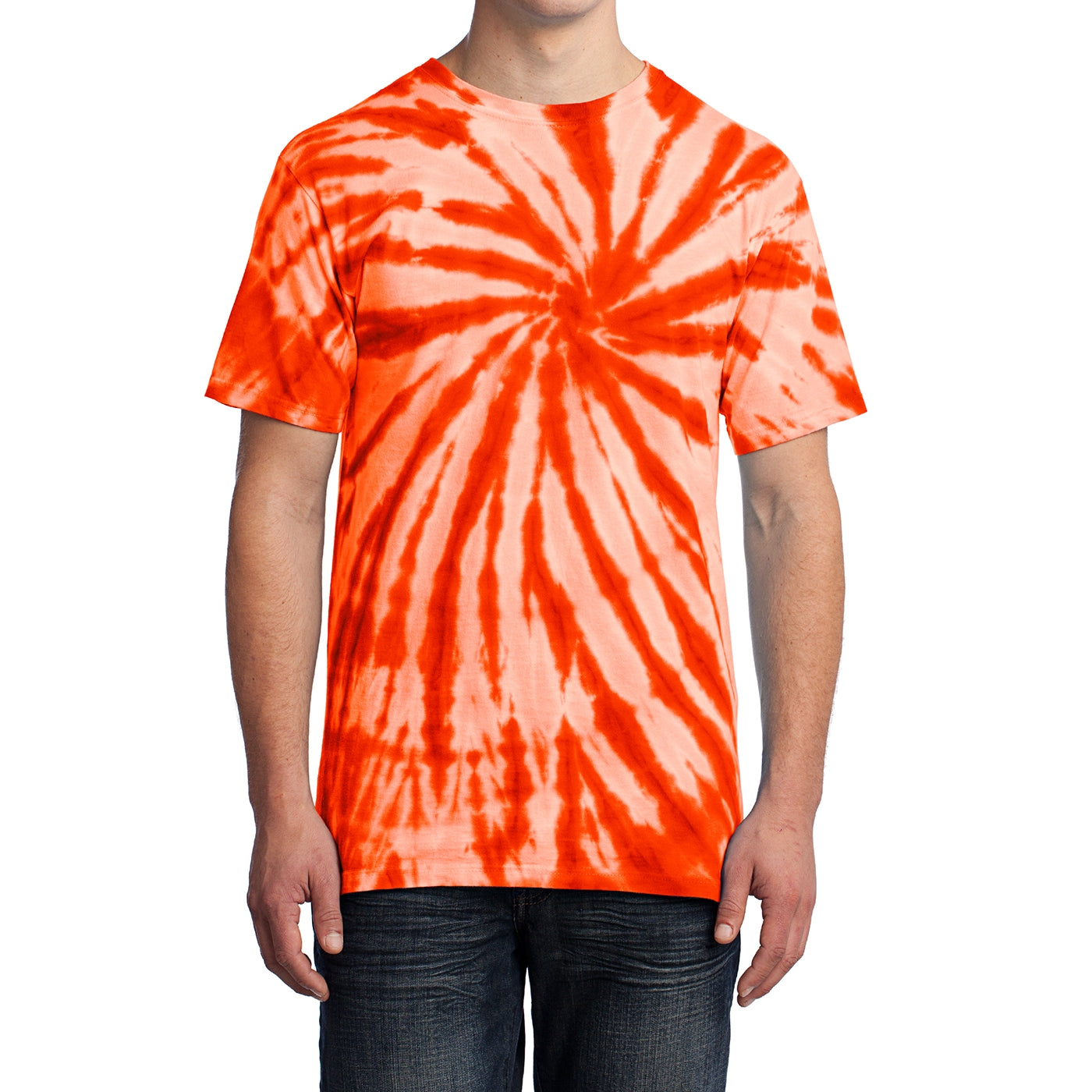 Men's Tie-Dye Tee - Orange - Front