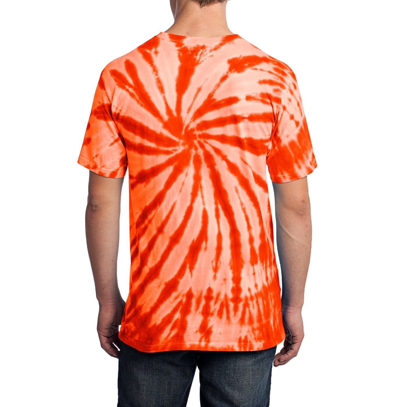 Men's Tie-Dye Tee - Orange - Back