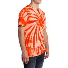Men's Tie-Dye Tee - Orange - Side
