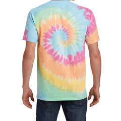 Men's Tie-Dye Tee -  Pastel Rainbow - Back