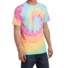 Men's Tie-Dye Tee -  Pastel Rainbow - Side