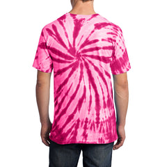 Men's Tie-Dye Tee -  Pink - Back