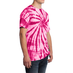 Men's Tie-Dye Tee -  Pink - Side