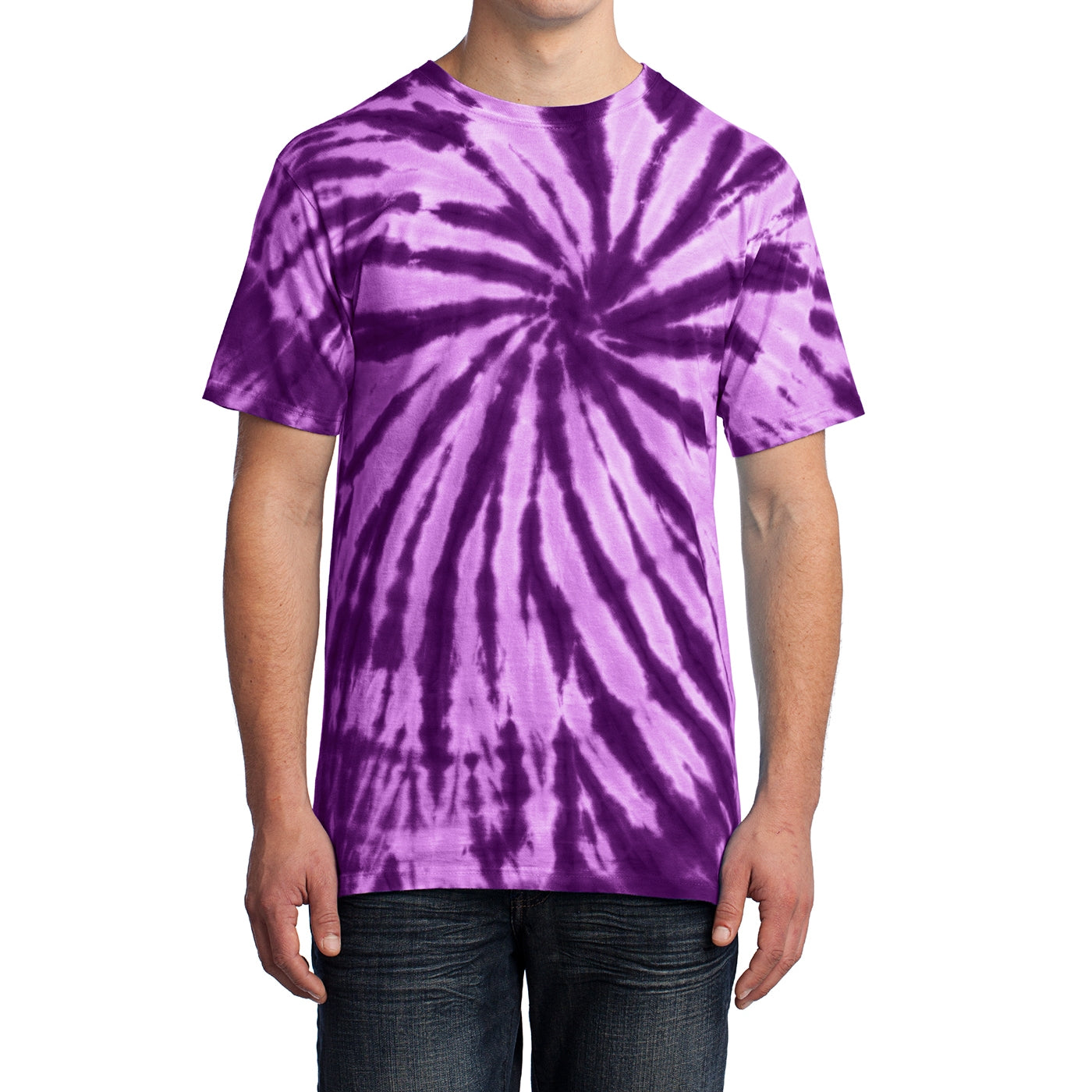 Men's Tie-Dye Tee -  Purple - Front