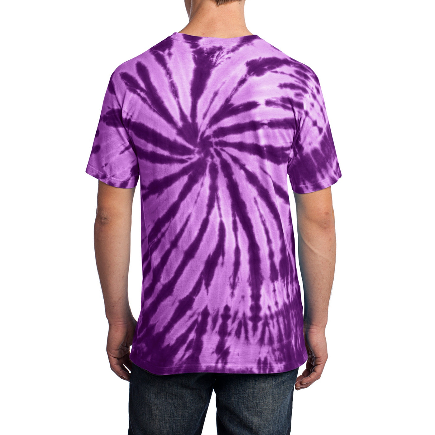Men's Tie-Dye Tee -  Purple - Back