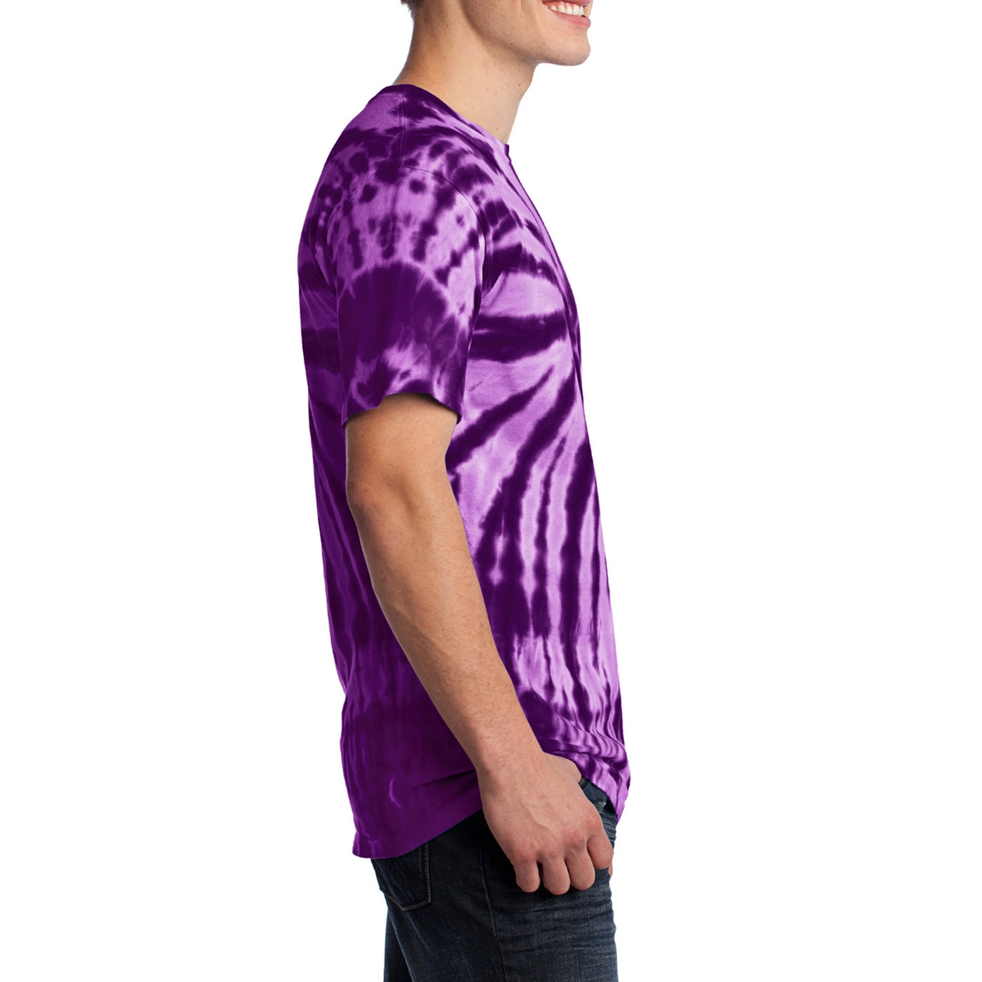Men's Tie-Dye Tee -  Purple - Side