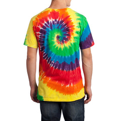 Men's Tie-Dye Tee - Rainbow - Back