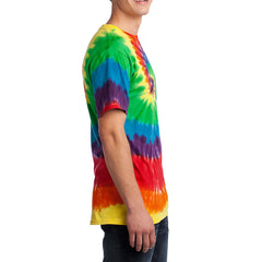 Men's Tie-Dye Tee - Rainbow - Side
