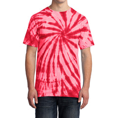 Men's Tie-Dye Tee - Red - Front