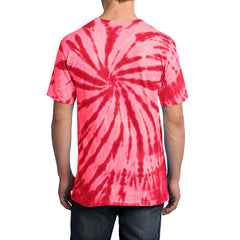 Men's Tie-Dye Tee - Red - Back