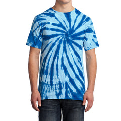 Men's Tie-Dye Tee - Royal - Front