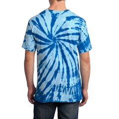 Men's Tie-Dye Tee - Royal - Back