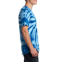 Men's Tie-Dye Tee - Royal - Side