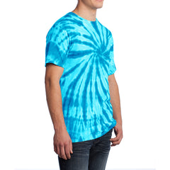 Men's Tie-Dye Tee - Turquoise - Side