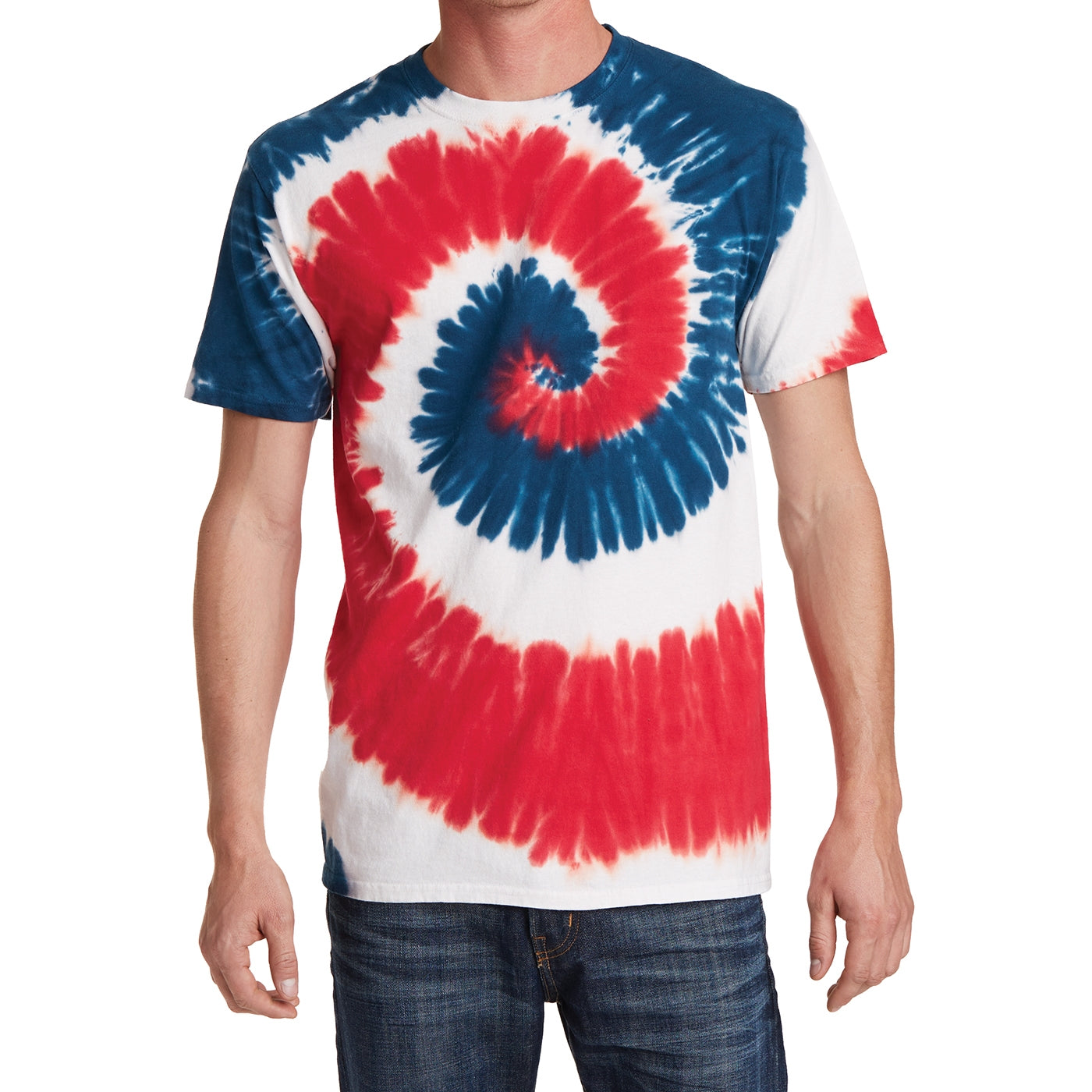 Men's Tie-Dye Tee - USA Rainbow - Front