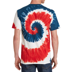 Men's Tie-Dye Tee - USA Rainbow - Back