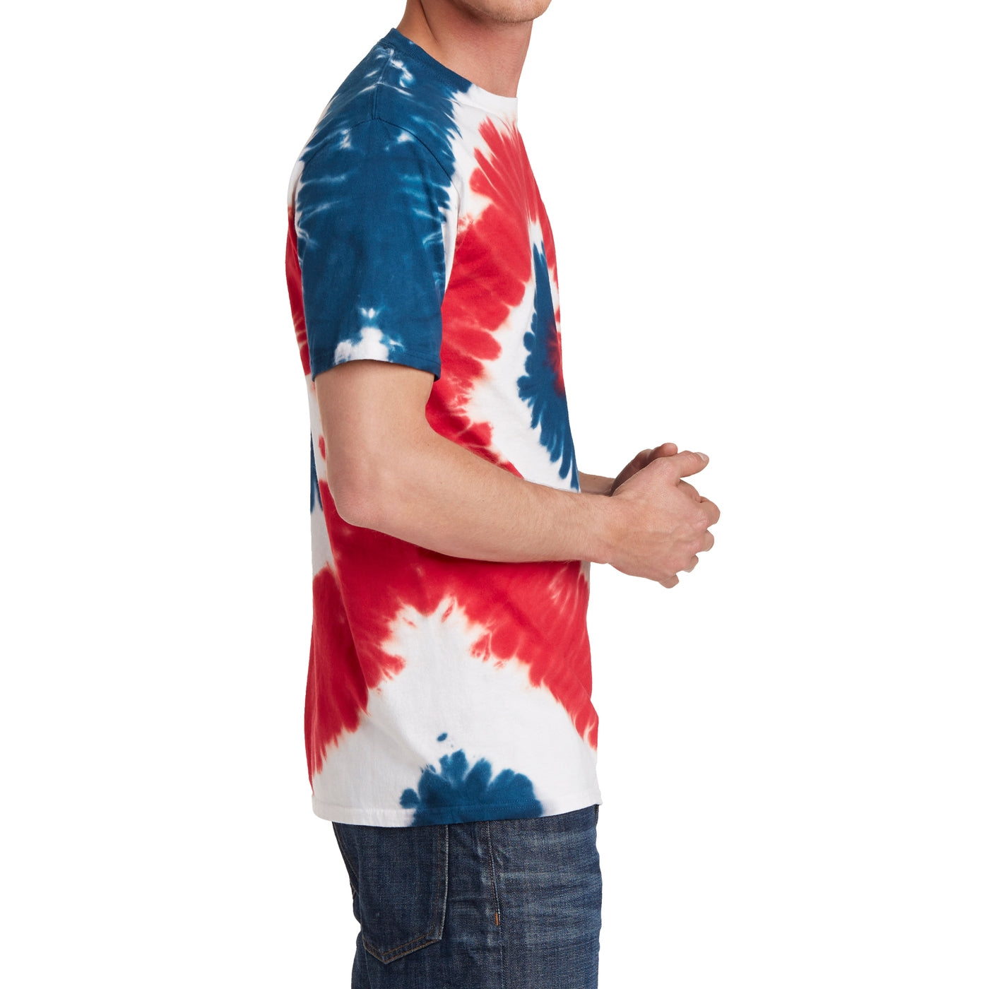 Men's Tie-Dye Tee - USA Rainbow - Side