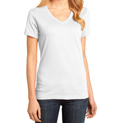 Ladies Perfect Weight V-Neck Tee - Bright White - Front