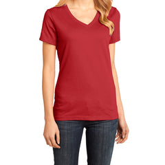 Ladies Perfect Weight V-Neck Tee - Classic Red - Front