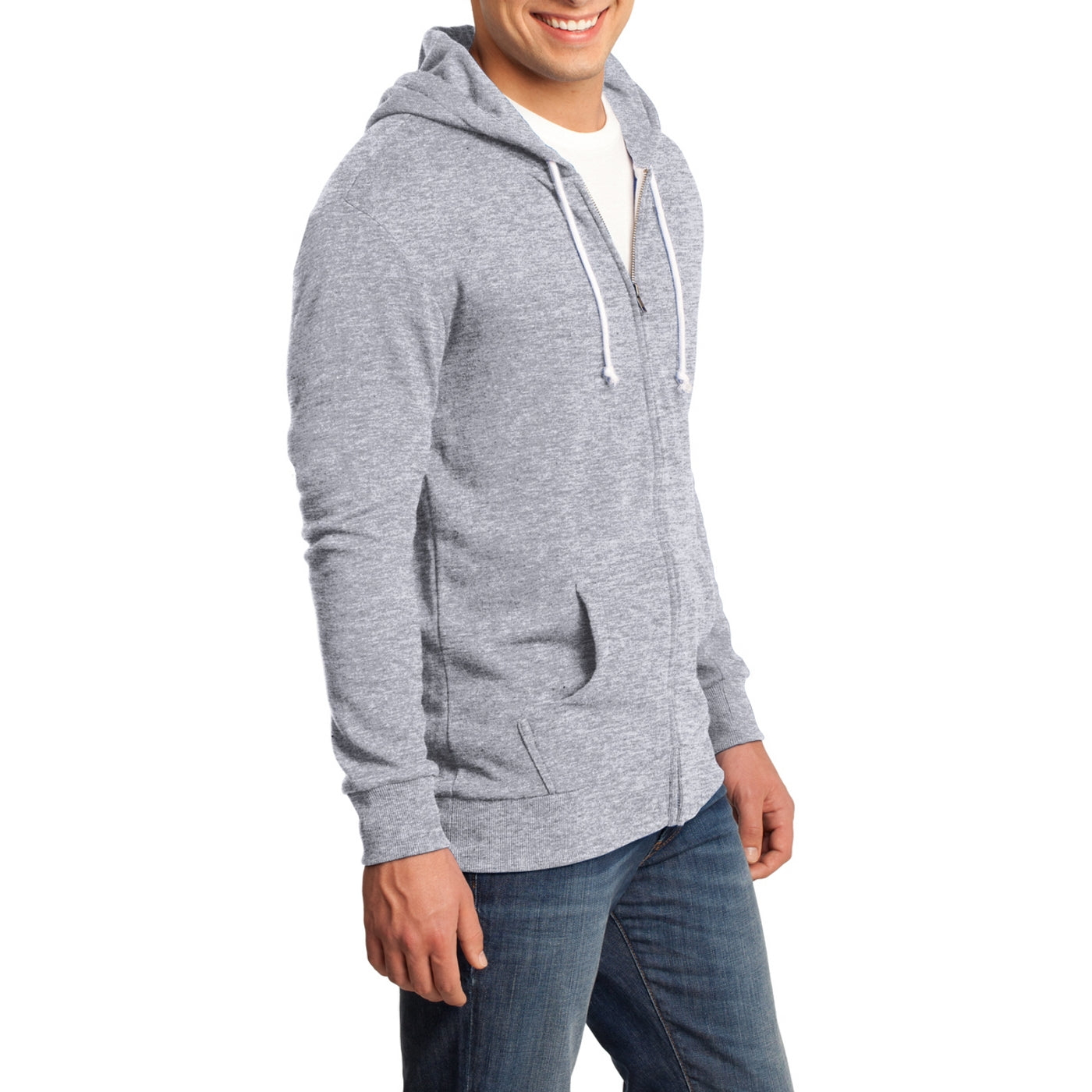 Men's Young Core Fleece Full-Zip Hoodie-Athletic Heather