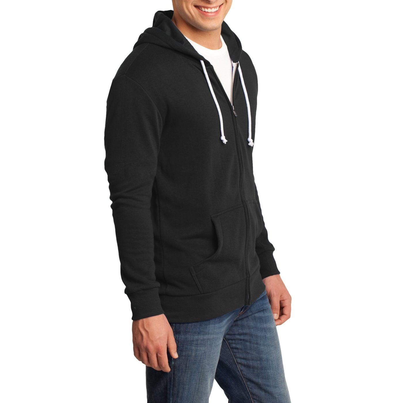 Men's Young Core Fleece Full-Zip Hoodie-Black