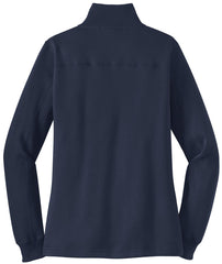 Mafoose Women's 1/4 Zip Sweatshirt True Navy-Back