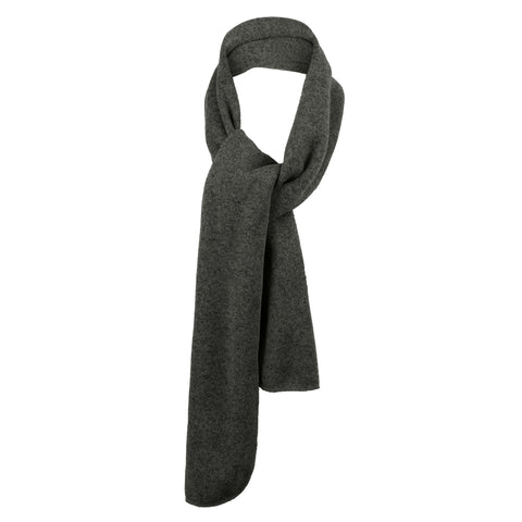 Heathered Knit Scarf Black Heather/ Charcoal