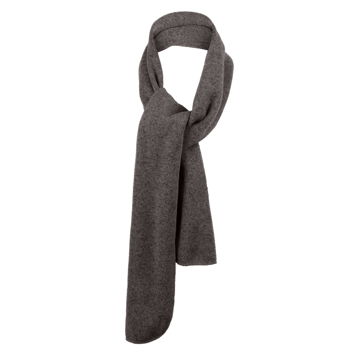 Heathered Knit Scarf Grey Heather/ Black