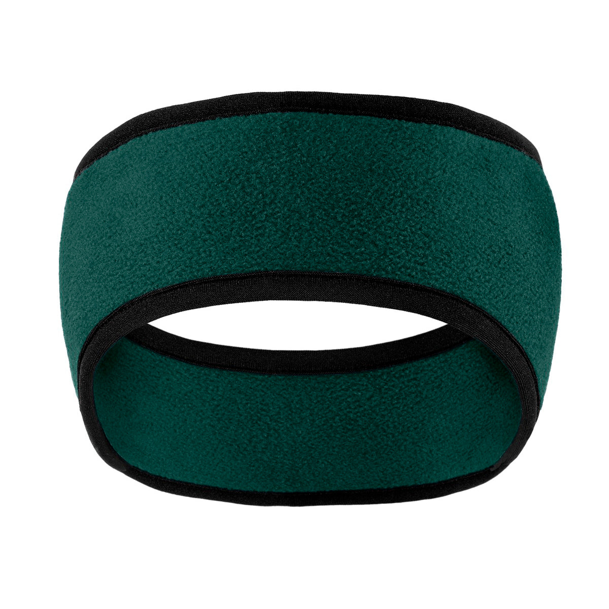 Two-Color Fleece Headband Dark Green