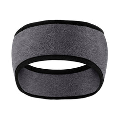 Two-Color Fleece Headband Midnight Heather