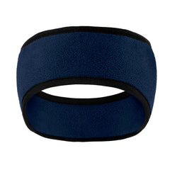 Two-Color Fleece Headband Navy