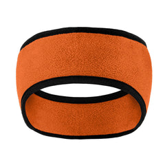 Two-Color Fleece Headband Orange