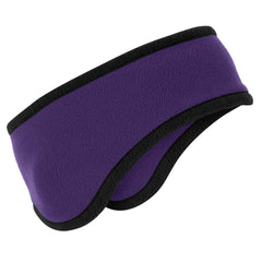 Two-Color Fleece Headband Purple