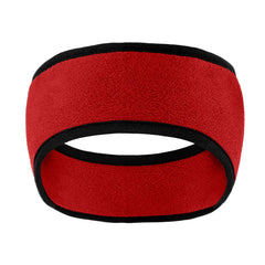 Two-Color Fleece Headband Red