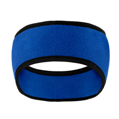 Two-Color Fleece Headband Royal