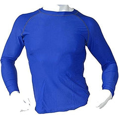 Men's Fitness Workout Base Layer Compression Shirt Long Sleeve - Blue
