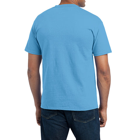 Men's Core Blend Pocket Tee - Aquatic Blue – Back