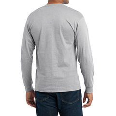 Men's Long Sleeve Core Blend Tee - Ash – Back