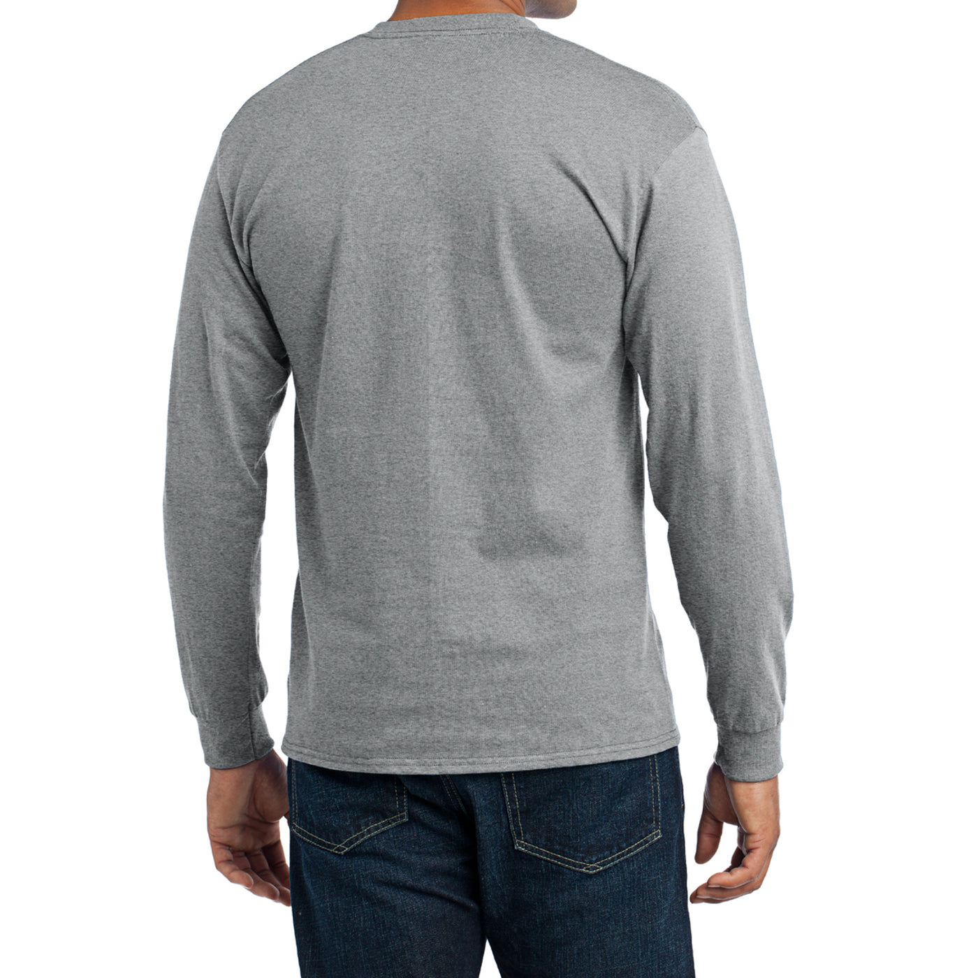 Men's Long Sleeve Core Blend Tee - Athletic Heather – Back