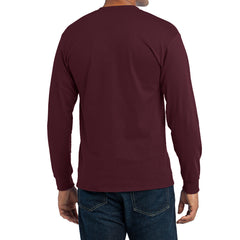 Men's Long Sleeve Core Blend Tee - Athletic Maroon – Back