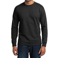 Men's Long Sleeve Core Blend Tee - Jet Black – Front
