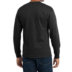 Men's Long Sleeve Core Blend Tee - Jet Black – Back